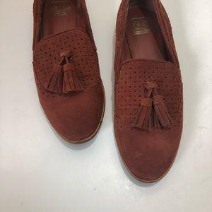 DV Dolce Vita Marcel burnt orange loafers size 9